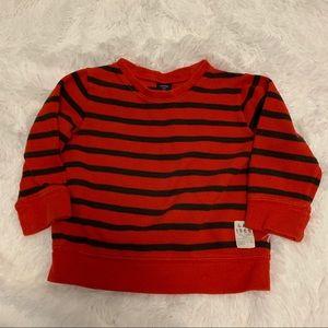 Gap boy stripe cozy sweatshirt